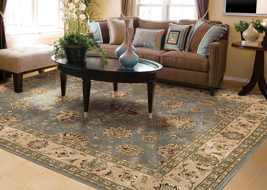 Decorating living room with Persian rug