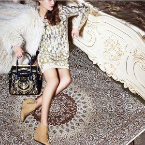 Persian carpet in fashion