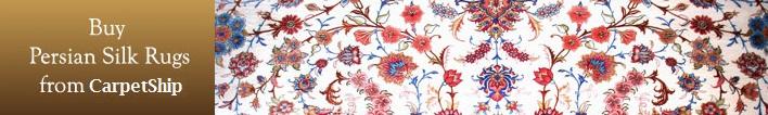 Silk Persian carpet rug