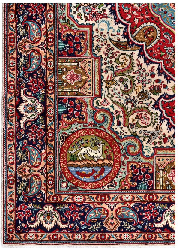Blue Tabriz Rug, Blue Persian carpet for sale 2x3m DR406-DR407-6870