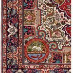 Blue Tabriz Rug, Blue Persian carpet for sale 2x3m DR406-6870-1