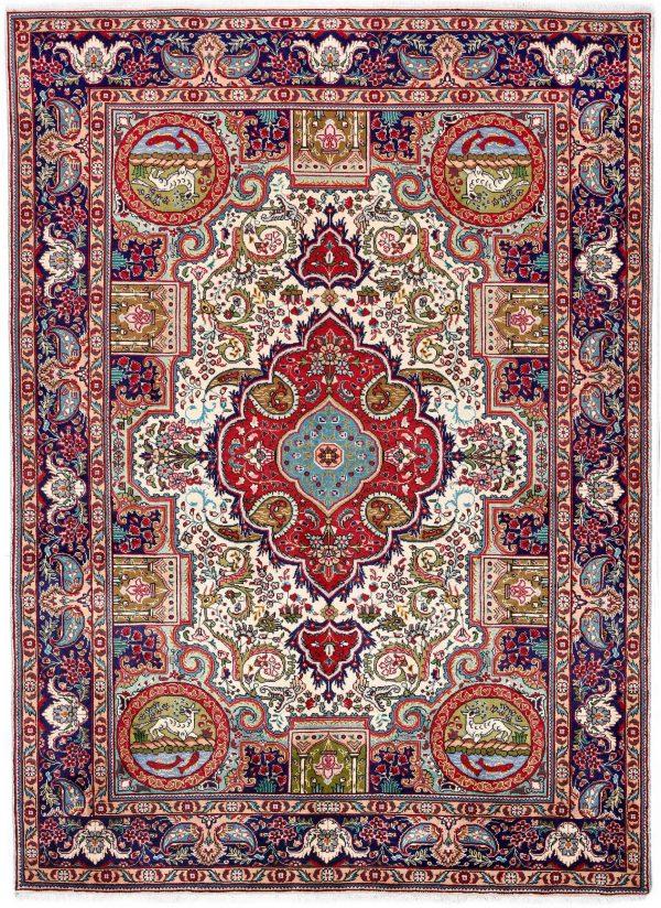 Blue Tabriz Rug, Blue Persian carpet for sale 2x3m DR406-DR407-6870