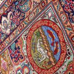 Blue Tabriz Rug, Blue Persian carpet for sale 2x3m DR407-6708