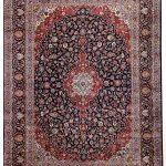 Dark Blue Kashan Rug – Persian carpet for sale – 3x4m DR375-7024
