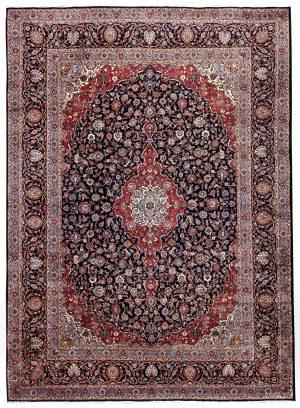 Dark-Blue-Kashan-Rug-Persian-carpet-for-sale-3x4m-DR375