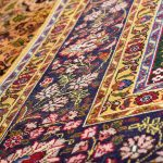 Gold Tabriz Rug, Yellow Persian carpet for sale 2x3m DR401-6669