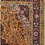 Golden Tabriz Rug, Gold Persian carpet for sale 2x3m DR401-1