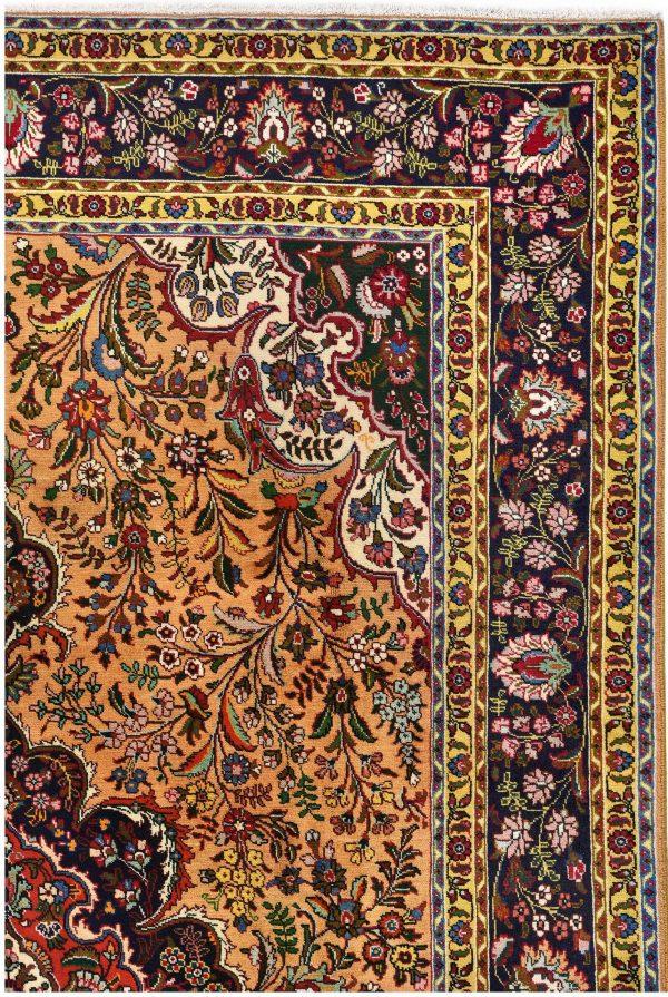 Golden Tabriz Rug, Gold Persian carpet for sale 2x3m DR401