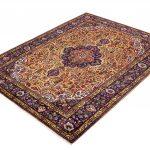 Golden Tabriz Rug, Gold Persian carpet for sale 2x3m DR402-2