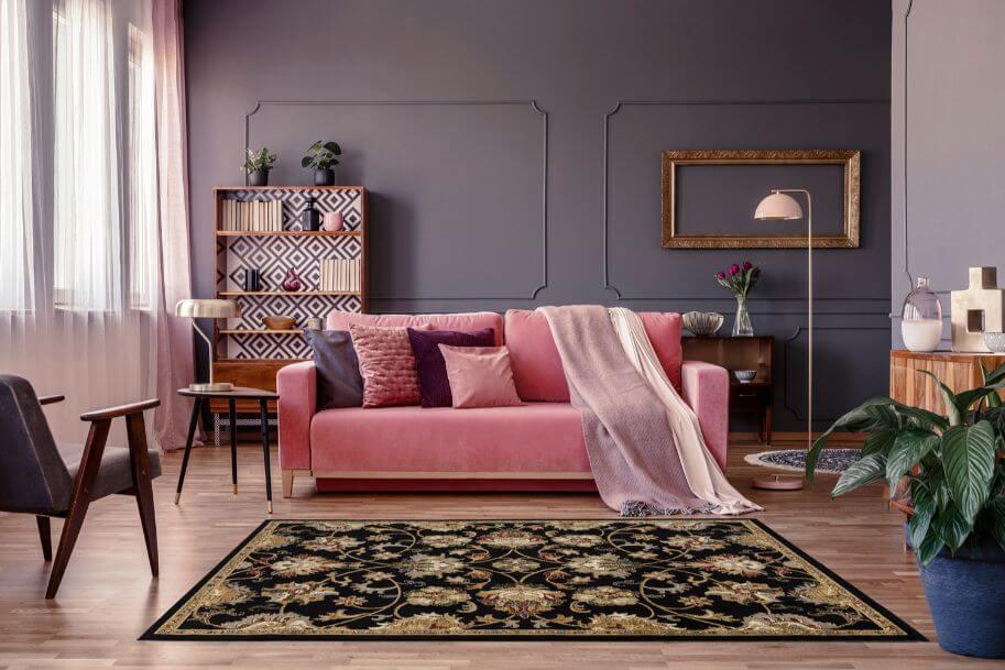 Persian carpet rug decorating