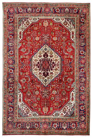 Red Tabriz Rug - Persian carpet for sale - 2x3m DR415-6842