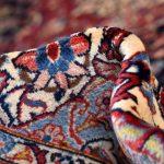 Soft Dark Blue Kashan Persian Rug for sale 3x4m DR375-6907