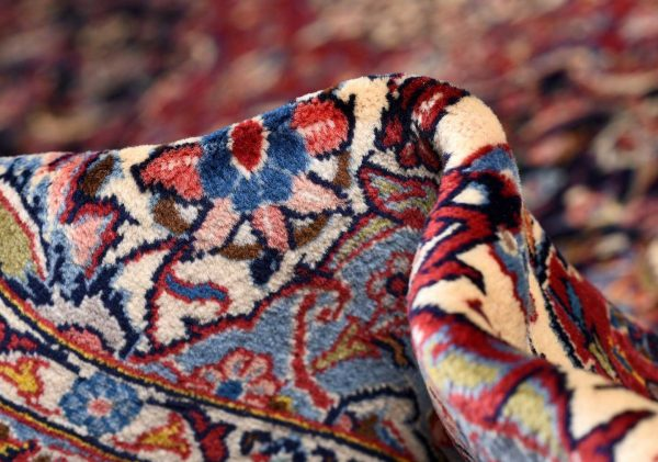 Soft Dark Blue Kashan Persian Rug for sale 3x4m DR375