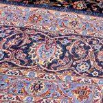 Soft Dark Blue Kashan Persian Rug for sale 3x4m DR375-6910