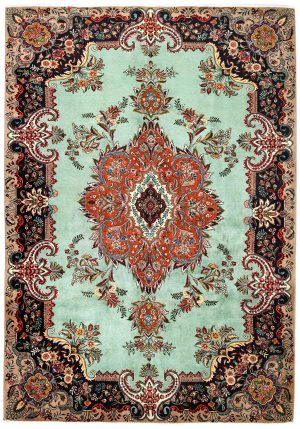 Tabriz Green Rug, Persian carpet for sale 2x3m DR408