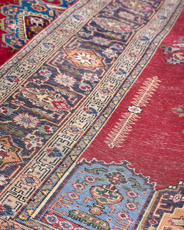 Tabriz Red Rug, Red Persian carpet for sale 2x3m DR411