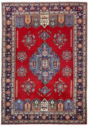 Tabriz Red Rug, Red Persian carpet for sale 2x3m DR411-6860