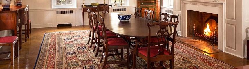baktiari rug - decorating dining room