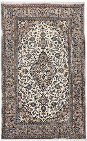 Beige Kashan Persian carpet for sale 2x3m DR231