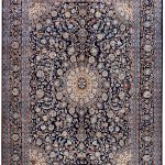 Dark Blue Kashan Persian Rug for sale 3x4m DR151-7067