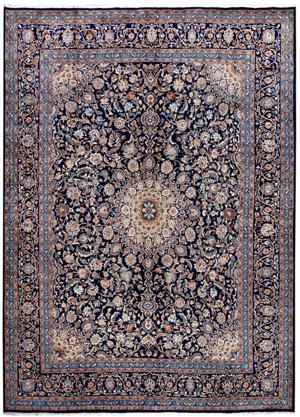 Dark Blue Kashan Persian Rug for sale 3x4m DR151-7067