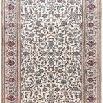 Ivory Beige cream Kashan rug Persian carpet for sale 2x3m