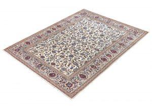 Ivory Beige cream Kashan rug Persian carpet for sale 2x3m