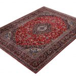 Red Kashan rug, 2.5×3.5m Persian carpet for sale DR428