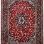 Red Kashan rug, 2.5×3.5m Persian carpet for sale DR428-7288