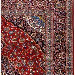 Red Kashan rug, 2.5×3.5m Persian carpet for sale DR428-7289