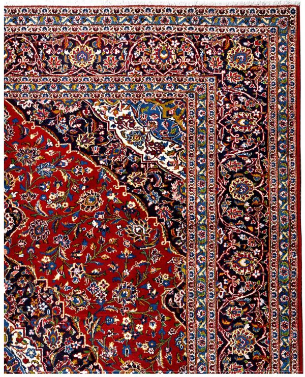 Red Kashan rug, 2.5x3.5m Persian carpet for sale DR428