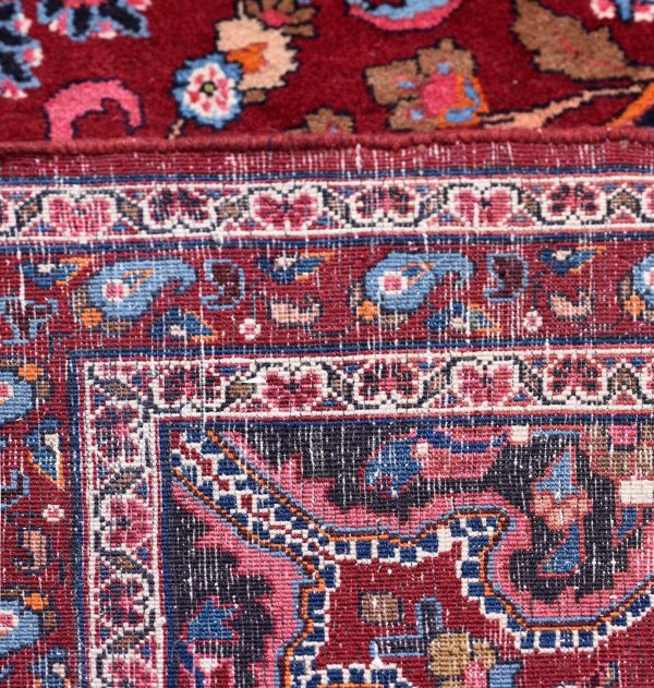 Red Mashad rug, large Persian carpet for sale DR125