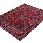 Red Mashad rug, large Persian carpet for sale DR125-7074-2