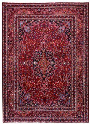 Red Mashad rug, large Persian carpet for sale DR125-7074