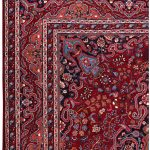 Red Mashad rug, large Persian carpet for sale DR125-7075