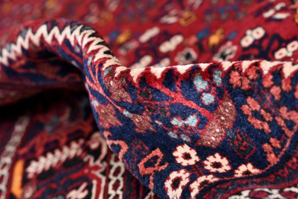 Red joschaghan Hand-knotted Persian rug for sale DR372