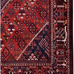 Red joschaghan Hand-knotted Persian rug for sale DR372-7056