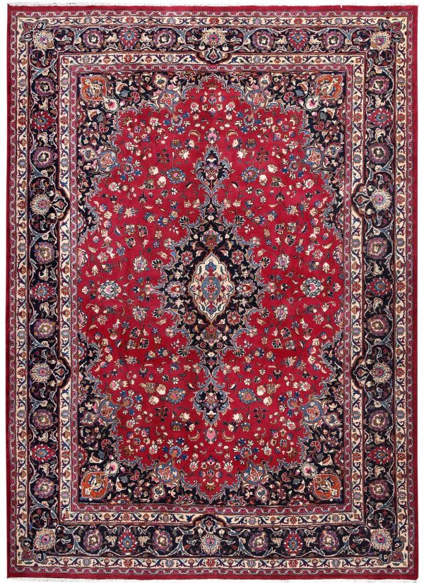 Rose Red Mashad rug large Persian carpet for sale DR145