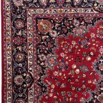 Rose Red Mashad rug large Persian carpet for sale DR145-7078