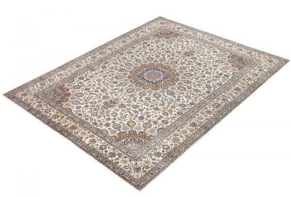 Soft Kurk beige Kashan Persian Rug for sale 3x4m DR220