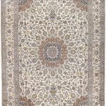 Soft Kurk beige Kashan Persian Rug for sale 3x4m DR220-7034