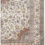Soft Kurk beige Kashan Persian Rug for sale 3x4m DR220-7035