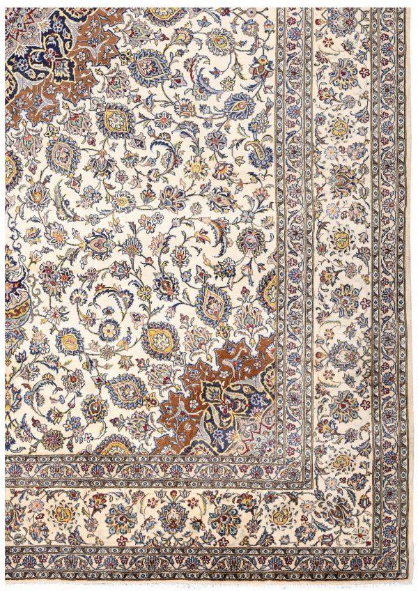 Soft Kurk beige Kashan Persian Rug for sale 3x4m DR220