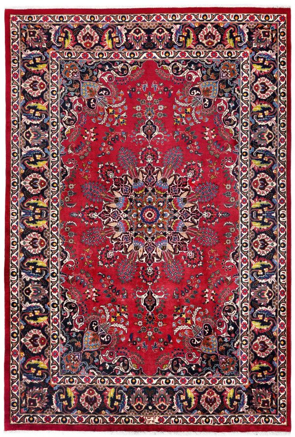Soft Red Mashad Persian Rug for sale 2x3m DR153