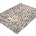 Kashan Rug, Cream Persian carpet for sale 3x4m DR377
