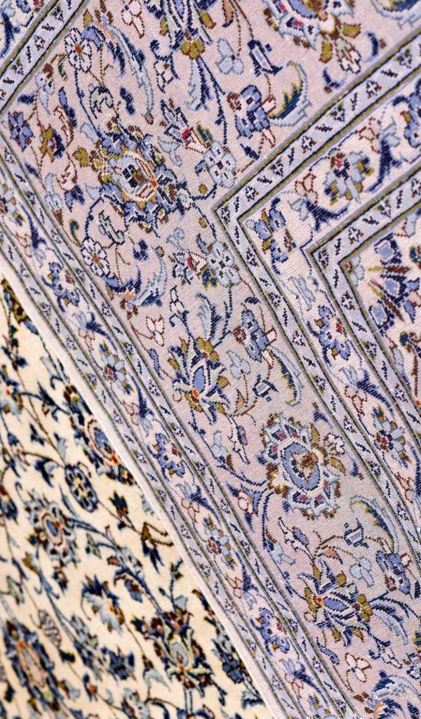 Kashan Rug, Cream Persian carpet for sale 3x4m DR377-6916