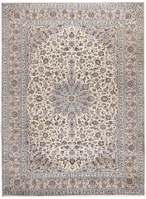 Kashan Rug, Cream Persian carpet for sale 3x4m DR377-7028