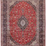 Authentic Red Persian Kashan carpet for sale DR-359-7021