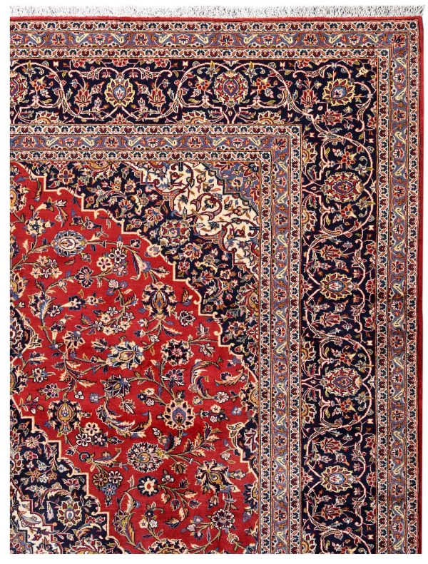 Authentic Red Persian Kashan carpet for sale DR-359-7022