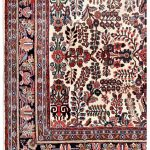 50 years old Mehraban hand-knotted Persian carpet-7314